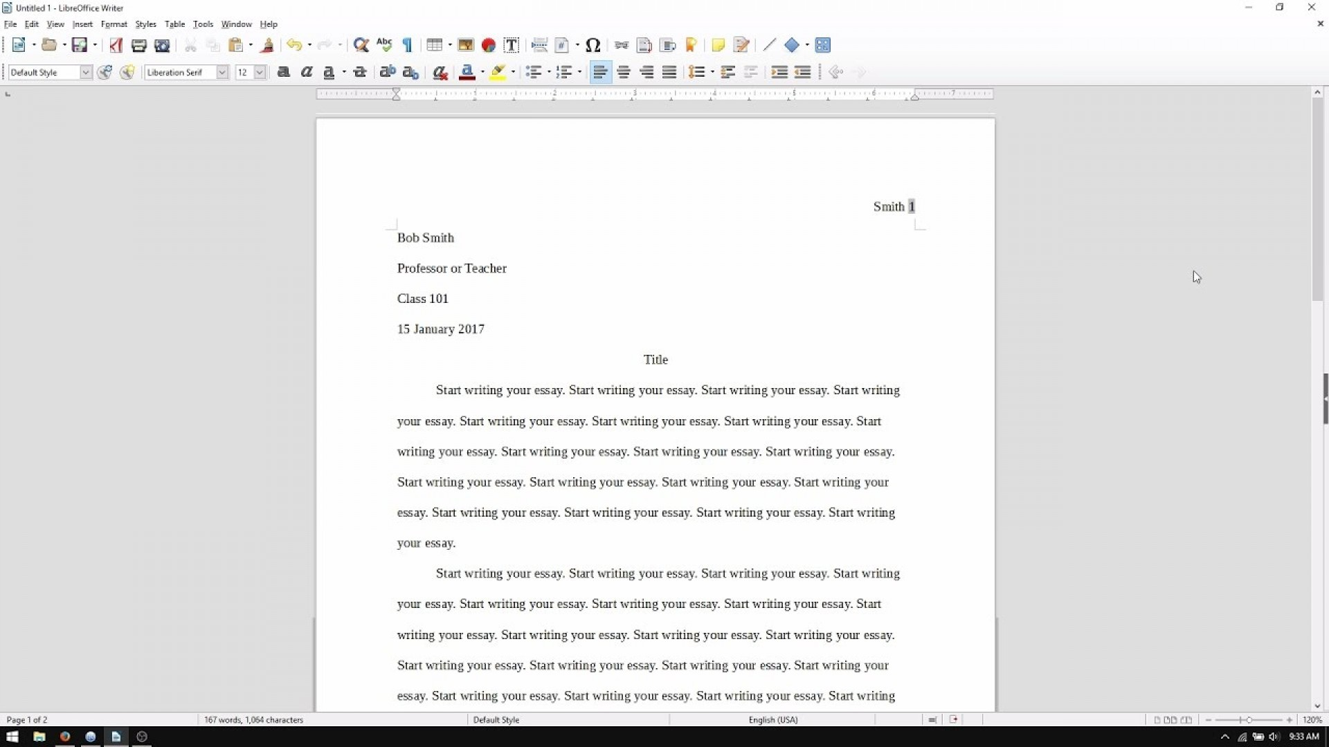 003 Essay Example How To Set Up An Singular My Paper In Mla Format A College 1920