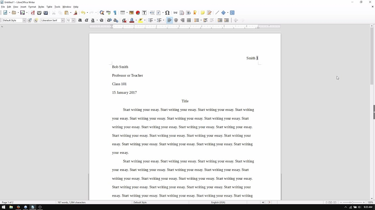 003 Essay Example How To Set Up An Singular My Paper In Mla Format A College Full