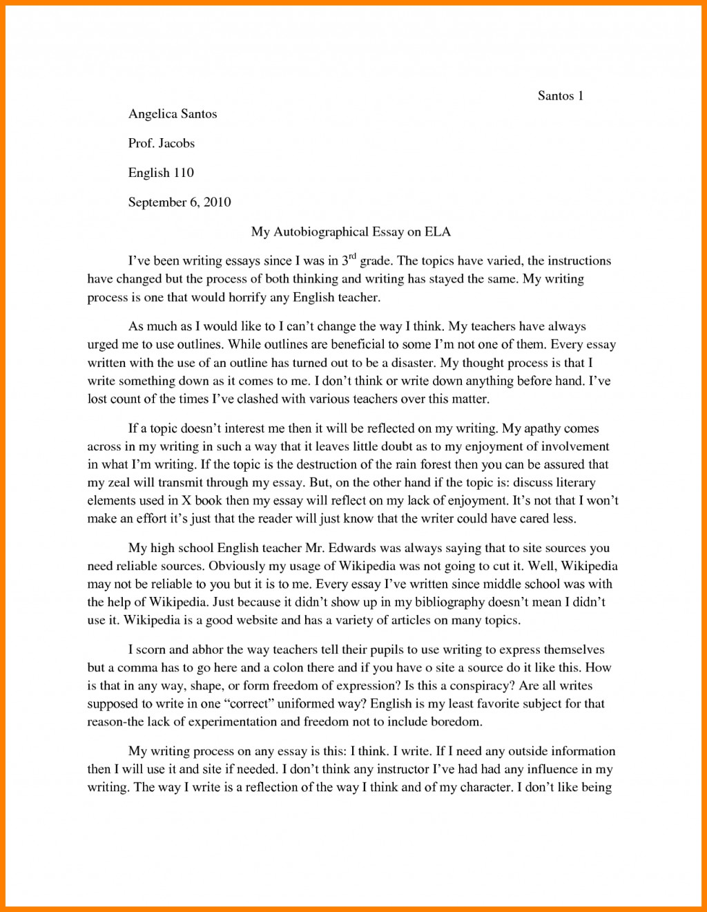 003 Essay Example How To Write An Autobiographical Autobiography College Outline 84096 Incredible For Graduate School A Job Large