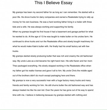 003 Essay Example I Believe Examples Phenomenal This Personal College 360