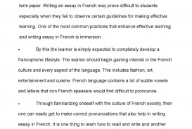 003 Essay Example In French Frightening On My Family For Beginners Monuments Of France Language