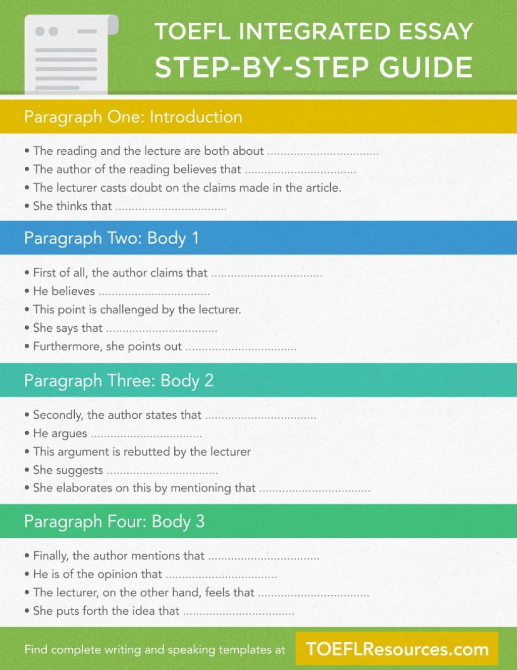 003 Essay Example Integrated Remarkable Toefl Sample Questions Practice Large