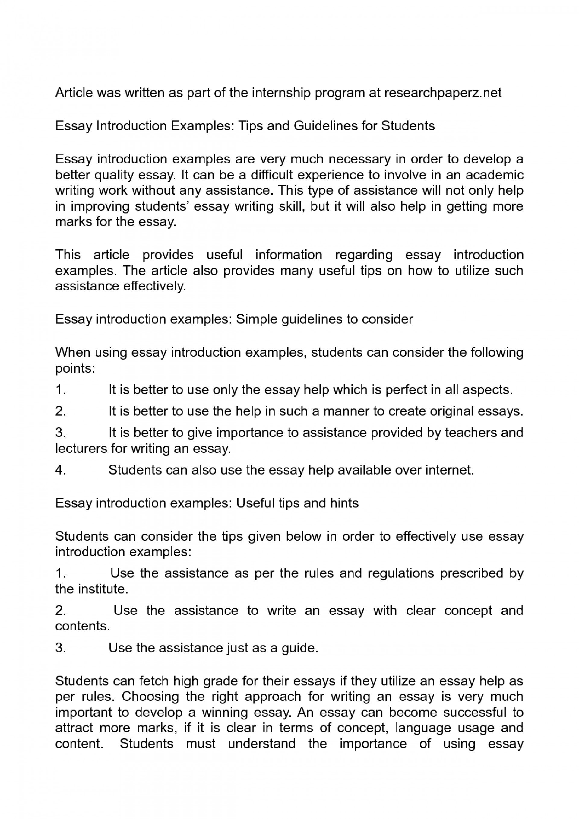 003 Essay Example Introductions For Essays Examples Of To Gotta Yotti Co Remarkable Good College Pdf 1920