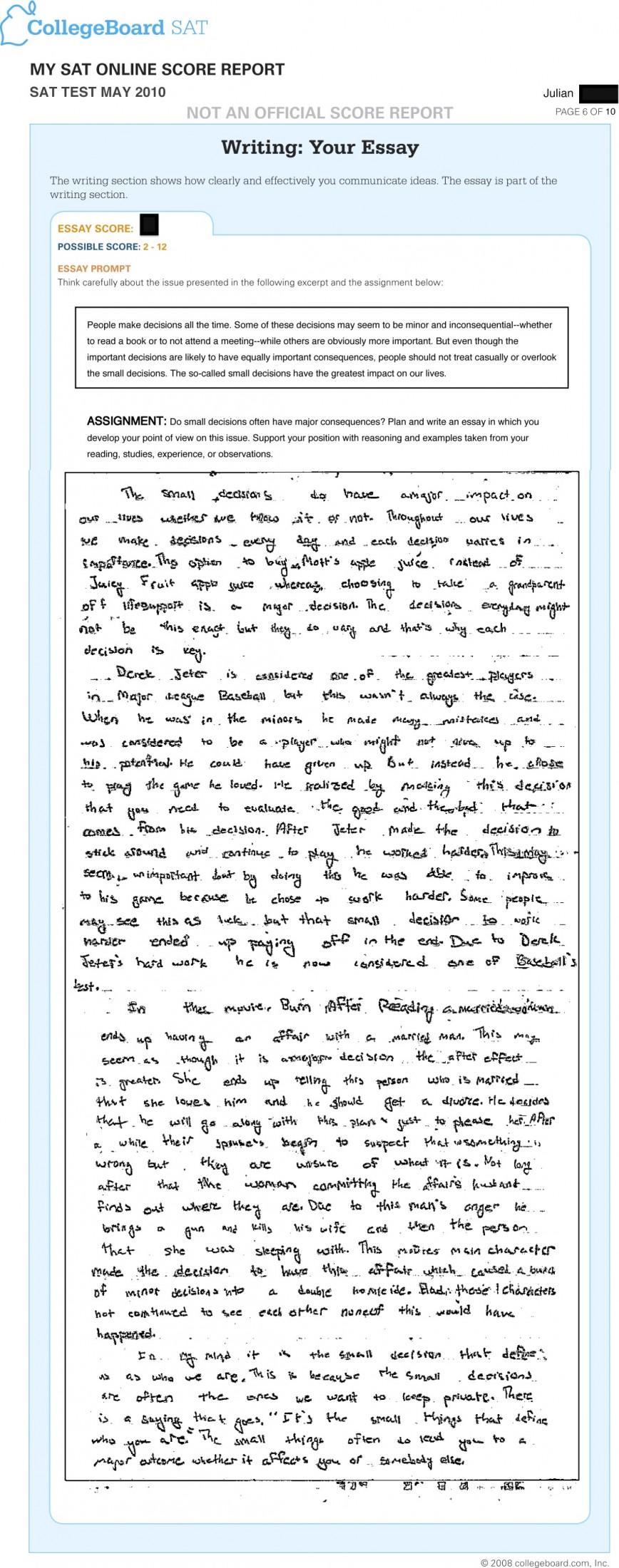 003 Essay Example Jr May Sat Amazing Scoring Rubric Pdf Score Percentiles 2018