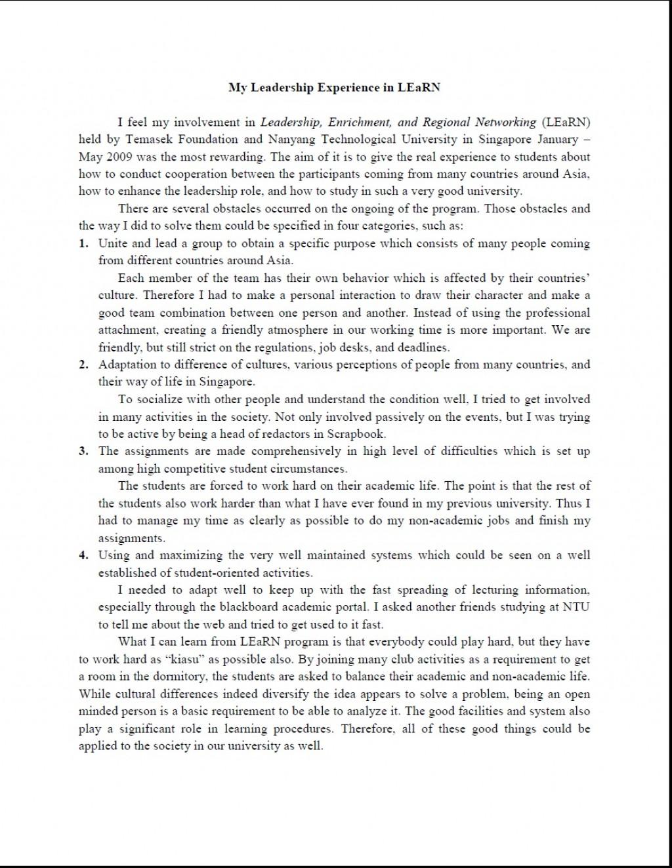 003 Essay Example Leadership Essays Striking Mba Samples Pdf Large