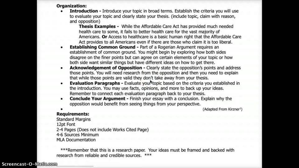003 Essay Example Maxresdefault Best Rogerian Argument Sentence Abortion Style Topics 960