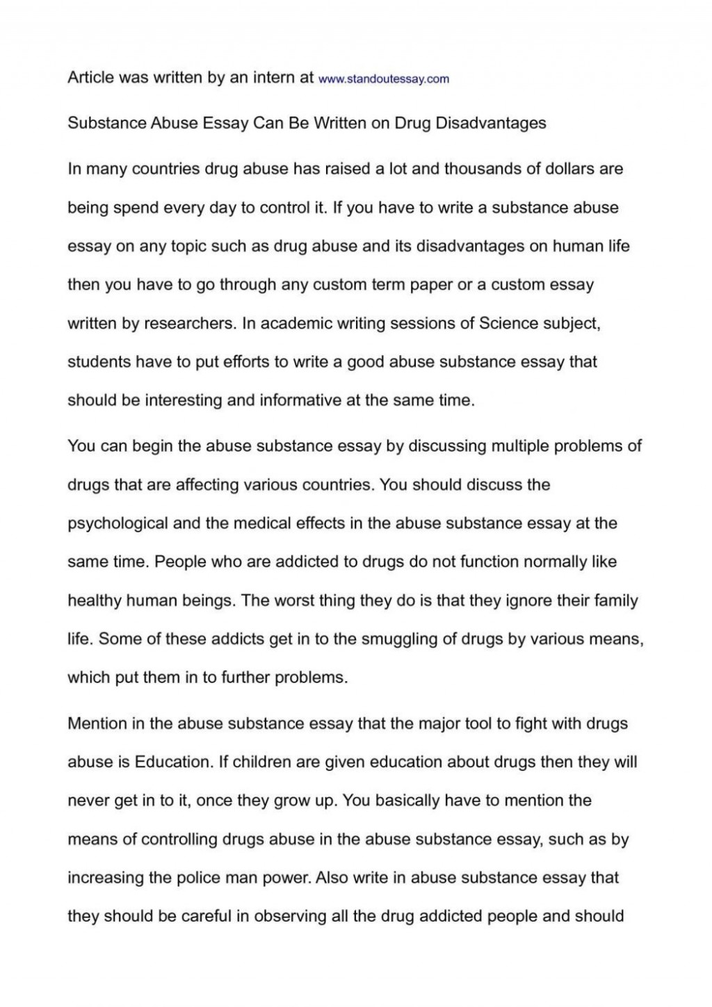 003 Essay Example National Honor Society Conclusion On Substance Abuse Junior Exampl Examples Topics 1048x1483 Archaicawful Of Drug Alcohol Large