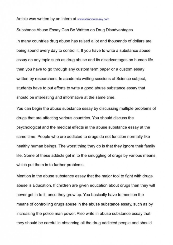 003 Essay Example National Honor Society Conclusion On Substance Abuse Junior Exampl Examples Topics 1048x1483 Archaicawful Of Drug Alcohol 728