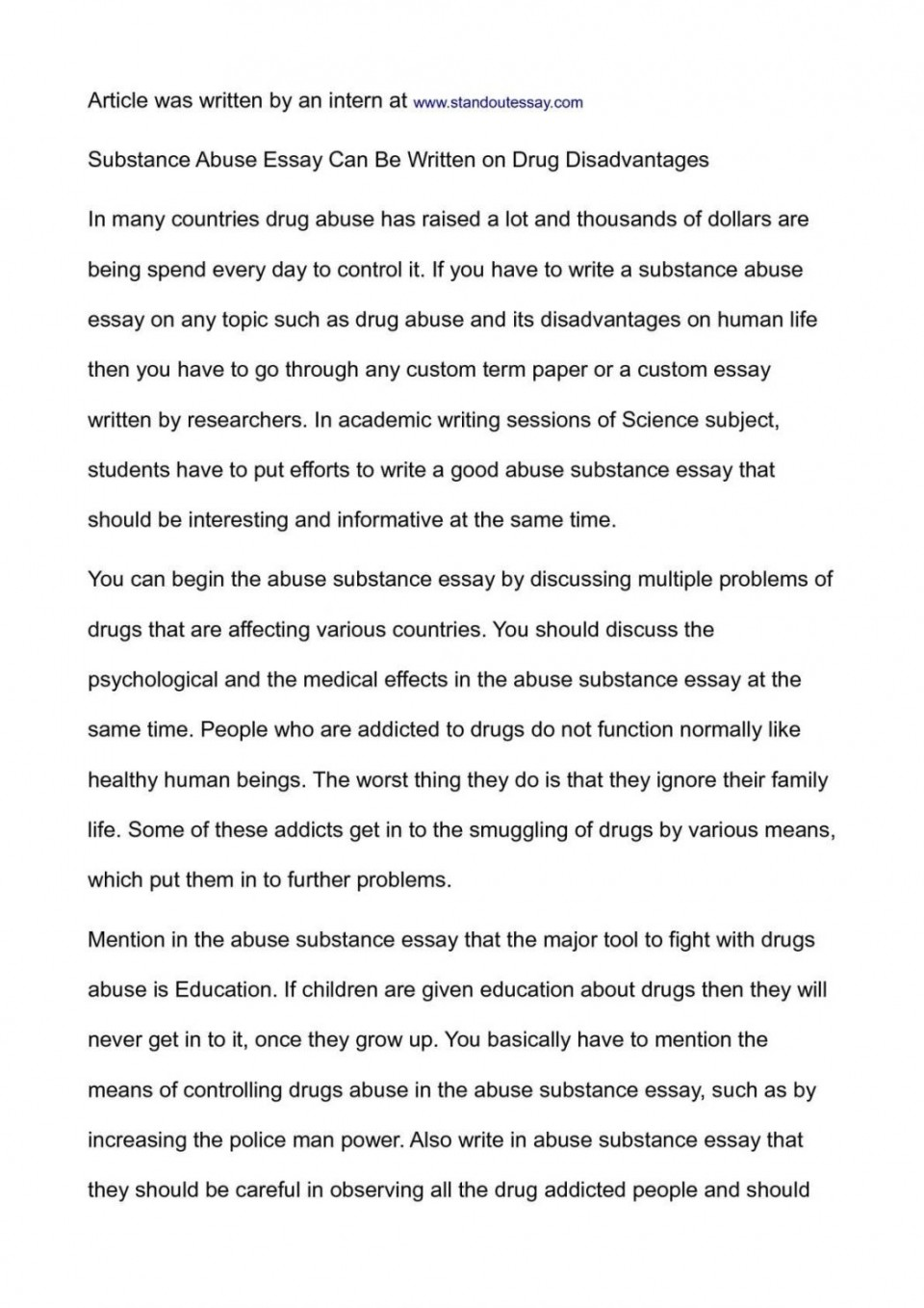 003 Essay Example National Honor Society Conclusion On Substance Abuse Junior Exampl Examples Topics 1048x1483 Archaicawful Of Drug Alcohol 960