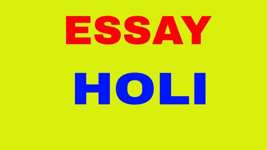 003 Essay Example On Holi Impressive In Punjabi Hindi Easy Festival