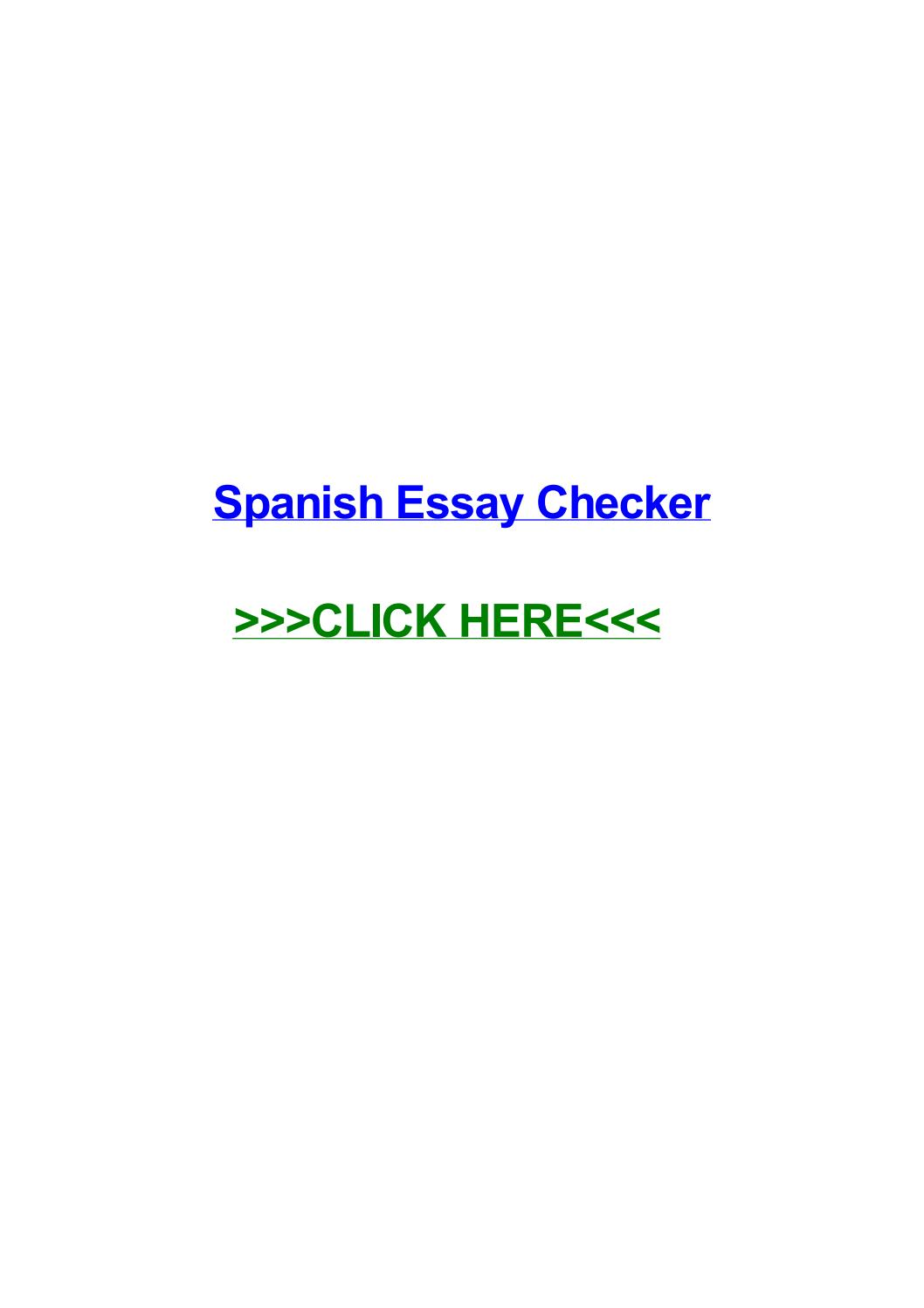 003 Essay Example Page 1 Spanish Remarkable Checker Full