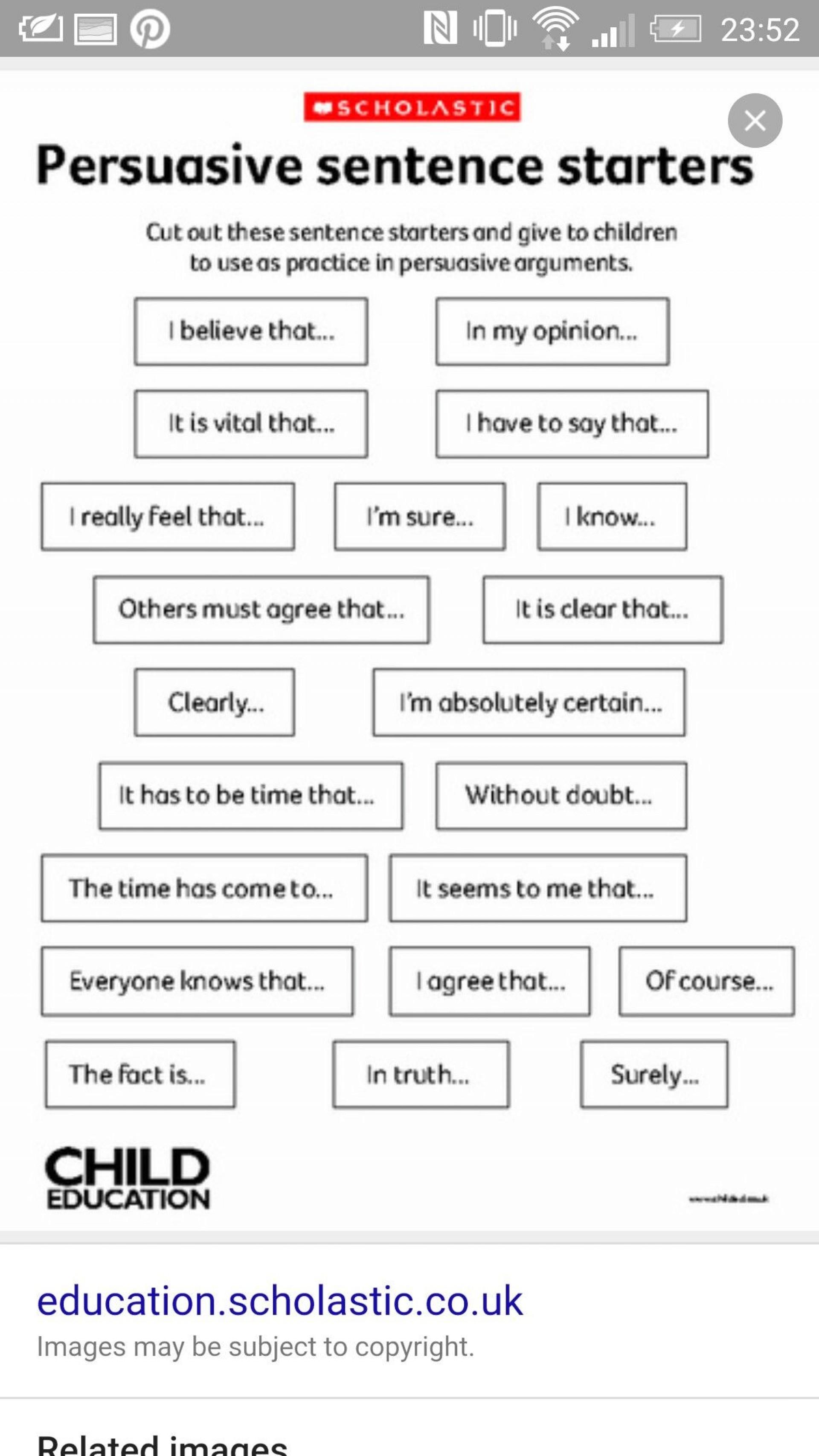 003 Essay Example Paragraph Starters Excellent Sentence Spanish Gcse 1920
