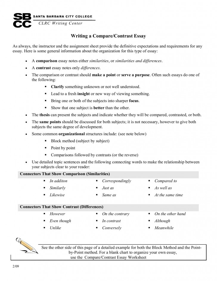 Comparison and Contrast Essay Examples Point by Point : Current School News