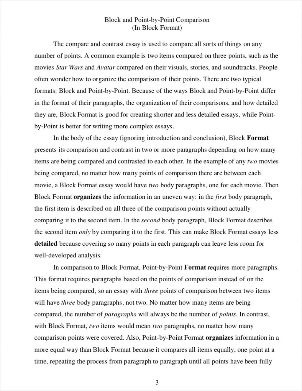 003 Essay Example Point By Comparative How To Write Incredible A Comparison Compare Contrast Introduction Thesis Large