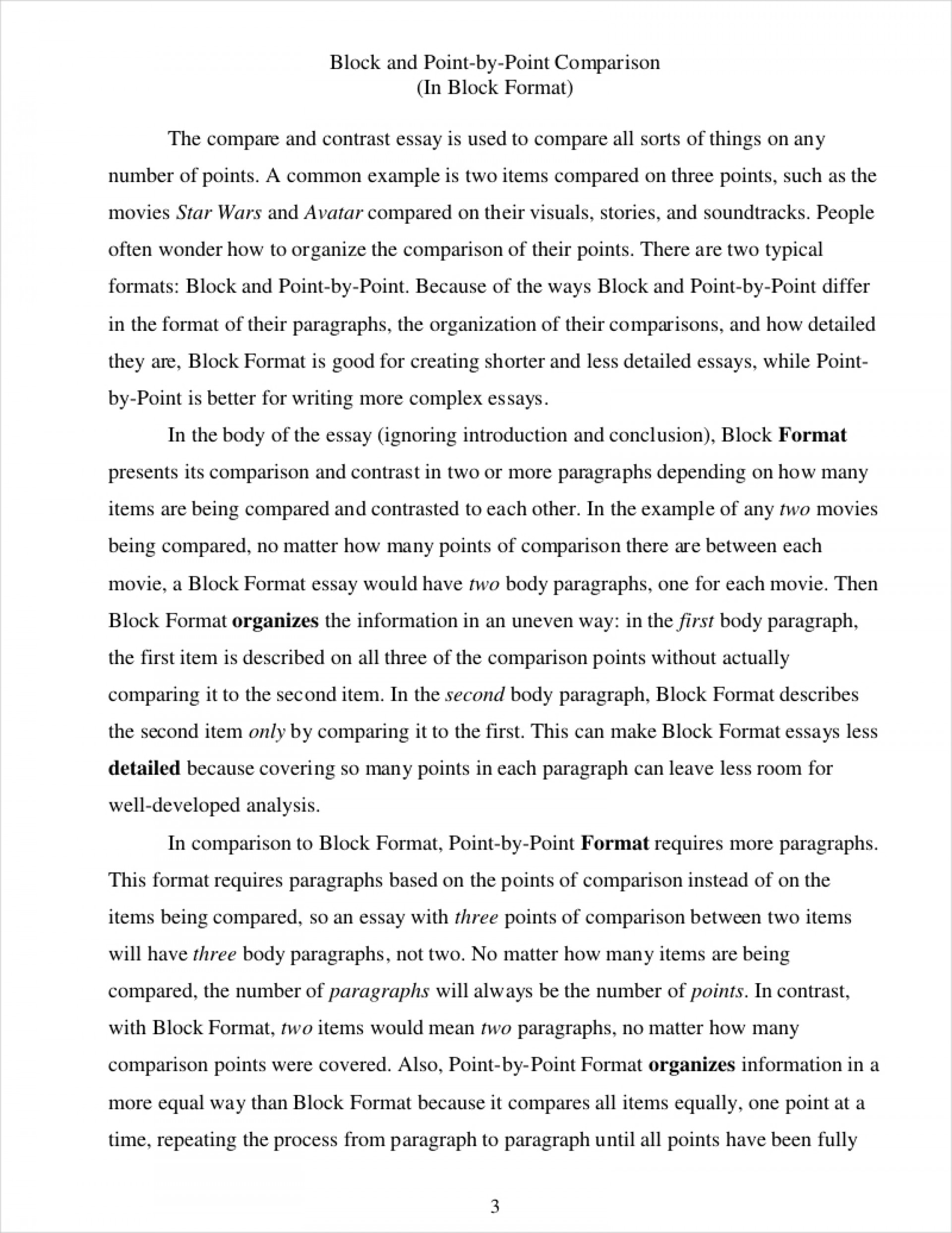 003 Essay Example Point By Comparative How To Write Incredible A Comparison Compare Contrast Introduction Thesis 1920