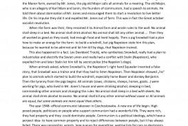 003 Essay Example Power In Animal Farm Wonderful And Corruption Control