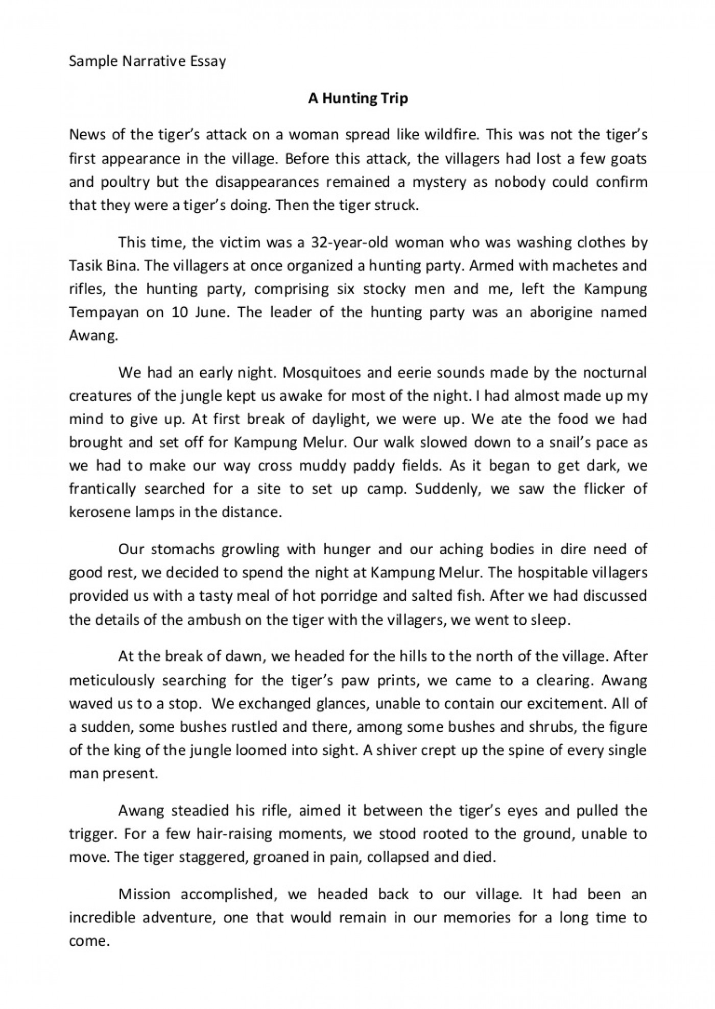 003 Essay Example Sample Narrative Samplenarrativeessay Phpapp02 Thumbnail Wondrous College High School Samples Of Essays Level 1400