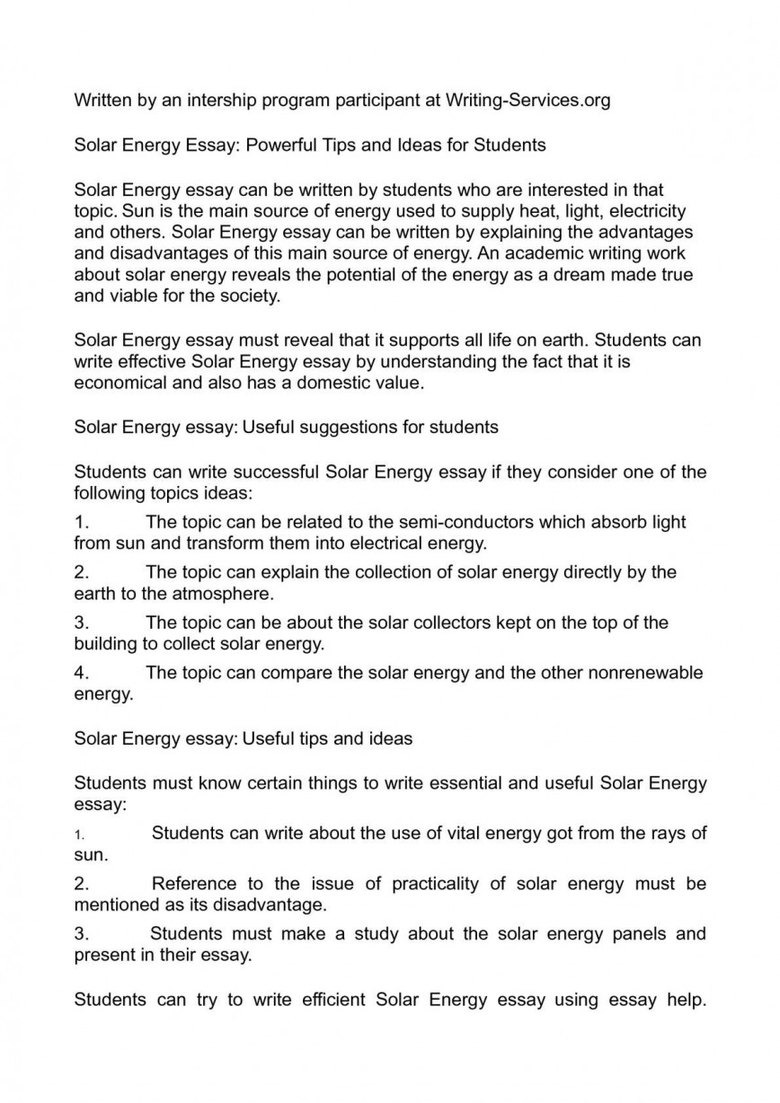 003 Essay Example Solar Energy Unforgettable Writing On In Hindi Is Becoming More Ielts Conclusion