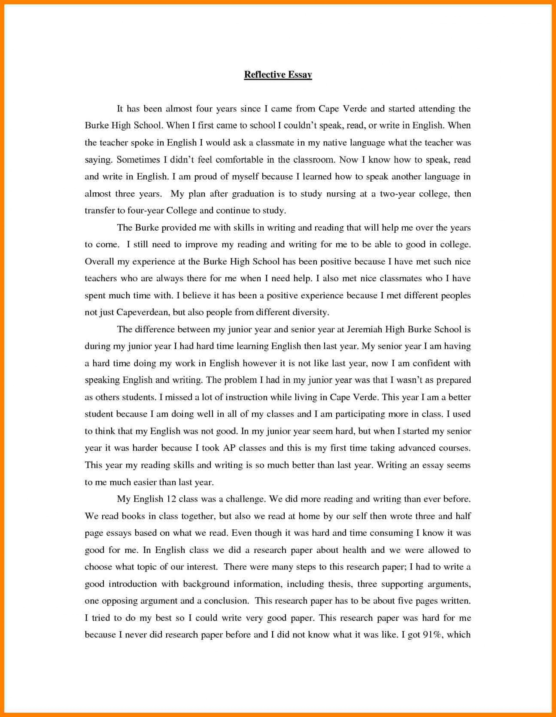 003 Essay Example Speak Brilliant Ideas Of Writing Reflection Printable Bill Lading Short Form Rf English Wonderful Conclusion Thesis Titles 1920