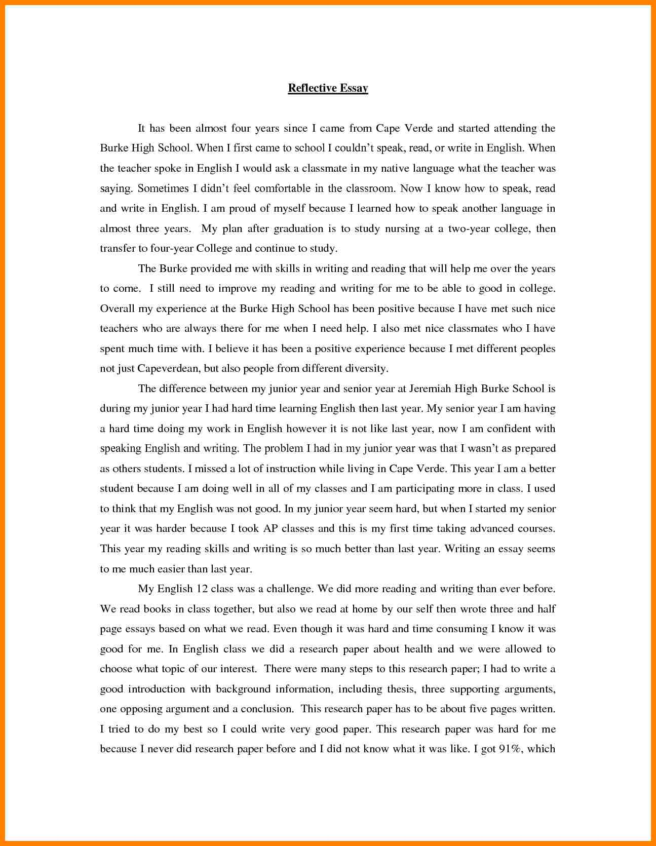 003 Essay Example Speak Brilliant Ideas Of Writing Reflection Printable Bill Lading Short Form Rf English Wonderful Conclusion Thesis Titles Full