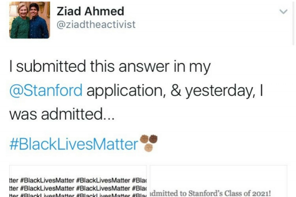 003 Essay Example Stanford Black Lives Matter Ziad Ahmed Wrote Blacklivesmatter Times On His College Untitled Desi Admission Awful Large
