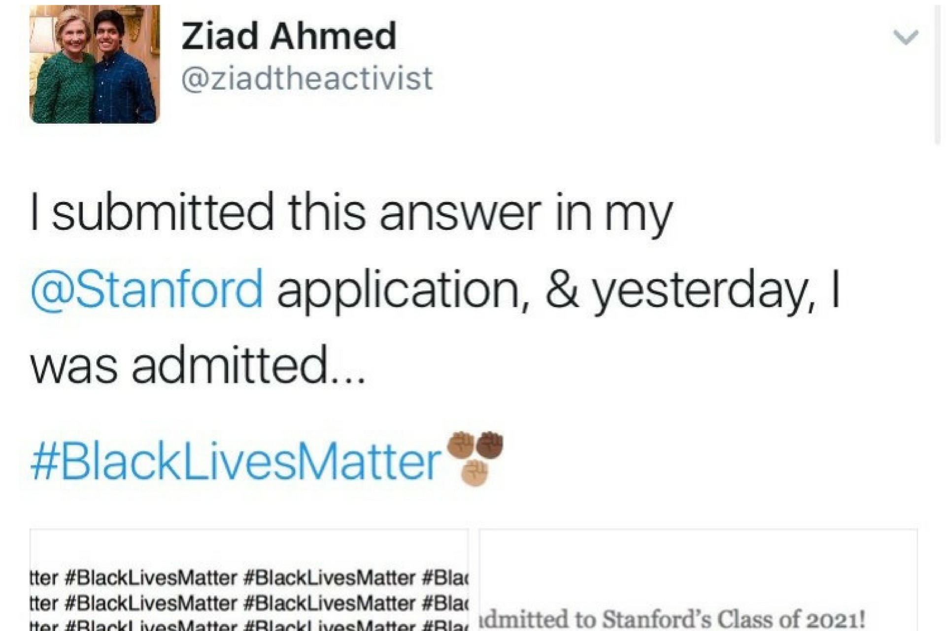 003 Essay Example Stanford Black Lives Matter Ziad Ahmed Wrote Blacklivesmatter Times On His College Untitled Desi Admission Awful 1920