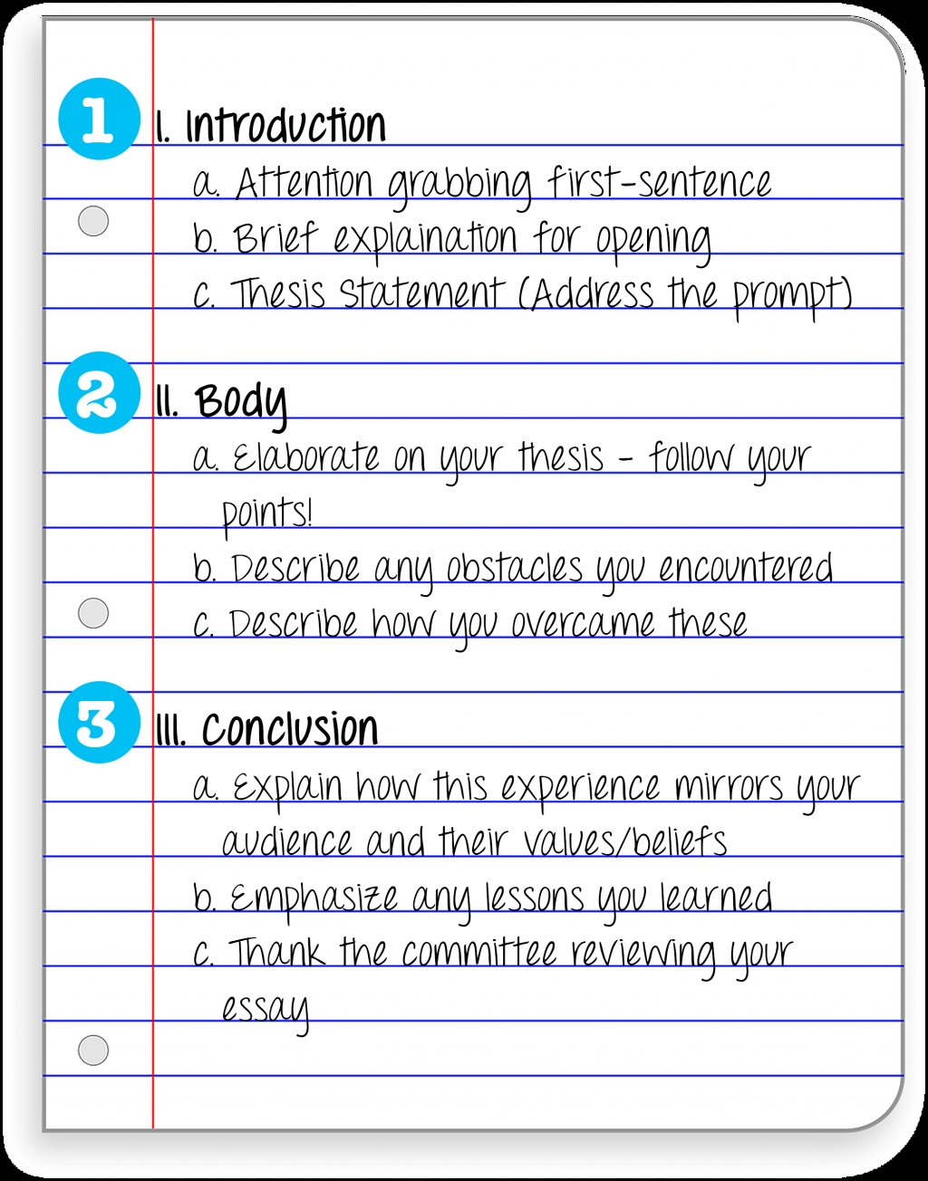 003 Essay Example Steps To Writing An Stunning 4th Grade Middle School Conclusion Large
