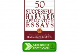 003 Essay Example Successful Harvard Application Essays Pdf Page 1 Impressive 50 Free 4th Edition Download