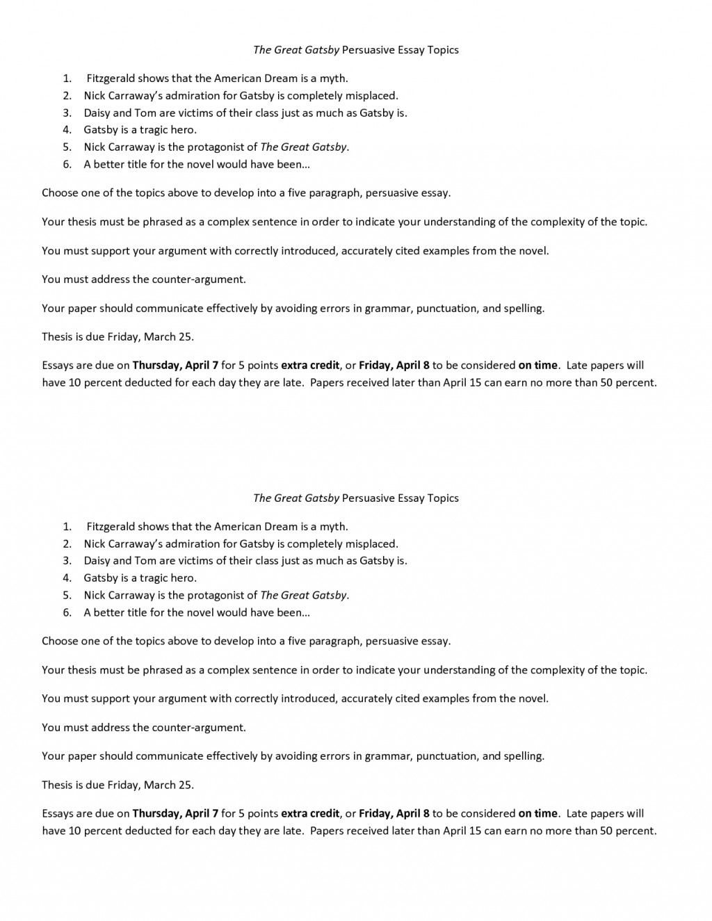 003 Essay Example The Great Gatsby Exceptional Topics Literary Question Chapter 1 Large