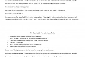 003 Essay Example The Great Gatsby Exceptional Topics Literary Question Chapter 1