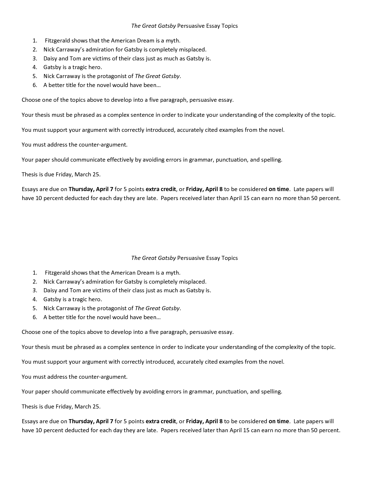 003 Essay Example The Great Gatsby Exceptional Topics Literary Question Chapter 1 Full