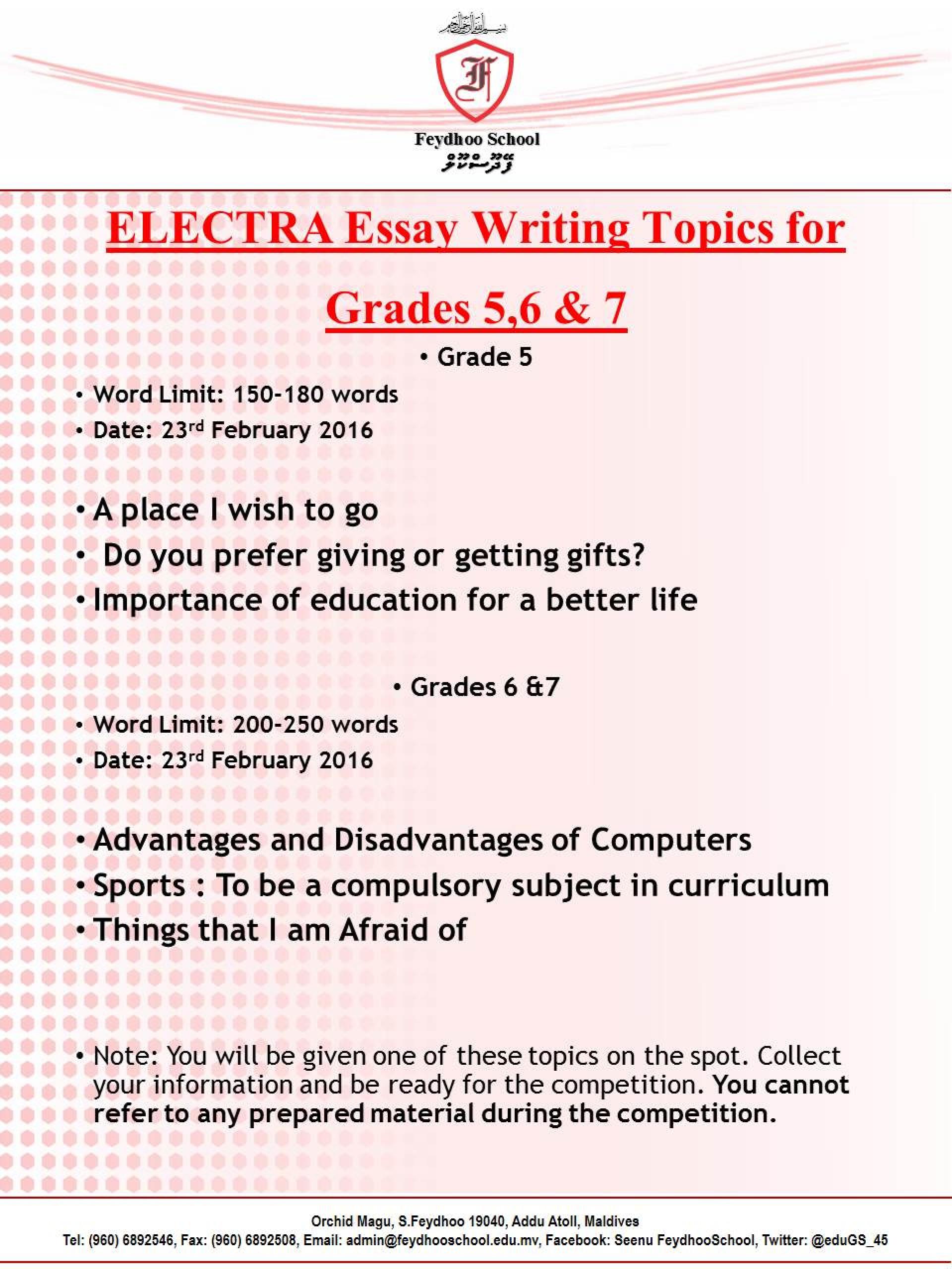 008 Five Paragraph Essay Lines Topics For Grade ~ Thatsnotus