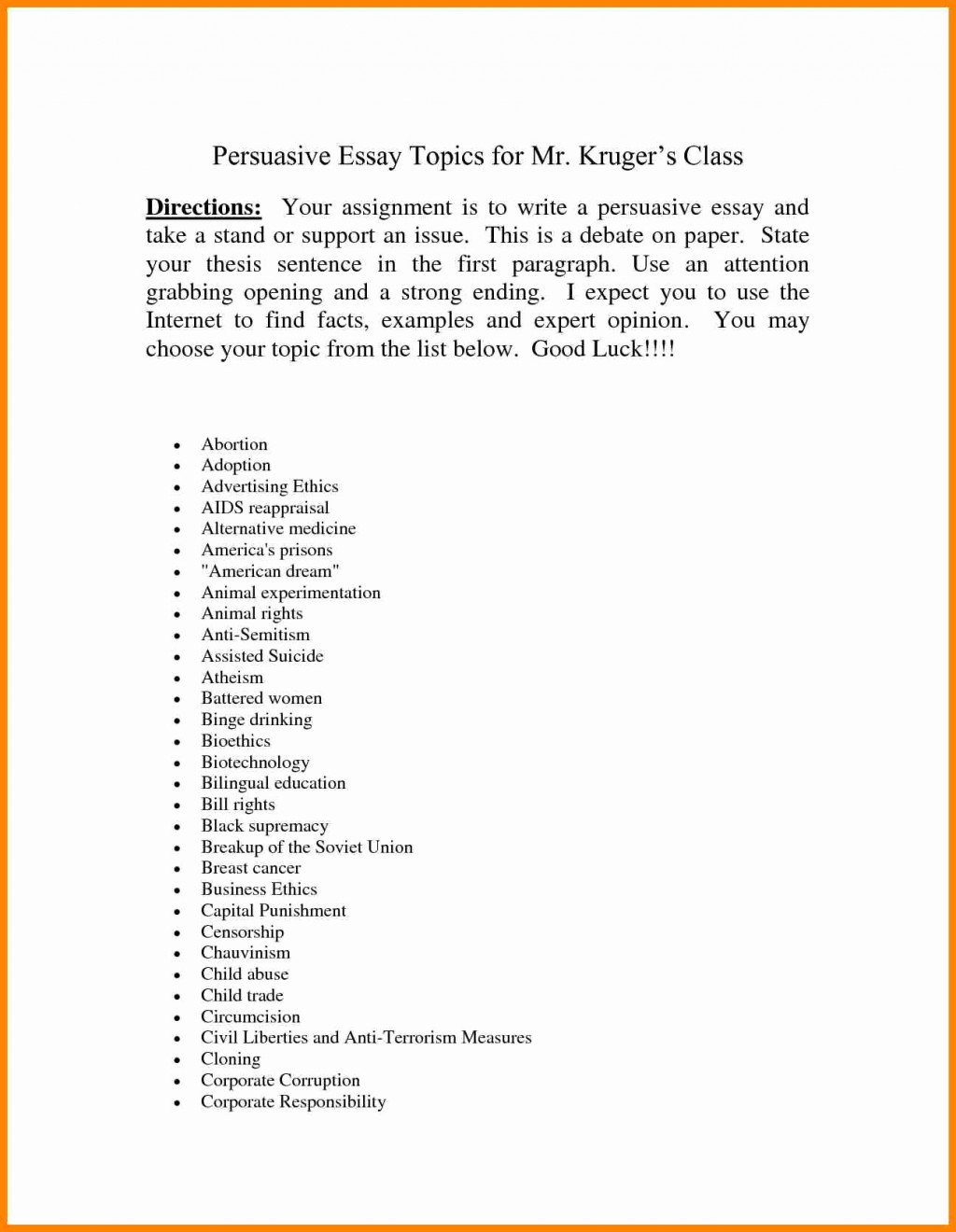 003 Essay Example Topics For Persuasive An Of Censorship Music About Speech Rap Research Paper Argumentative Interesting Breathtaking A Best Top 10 Controversial Large
