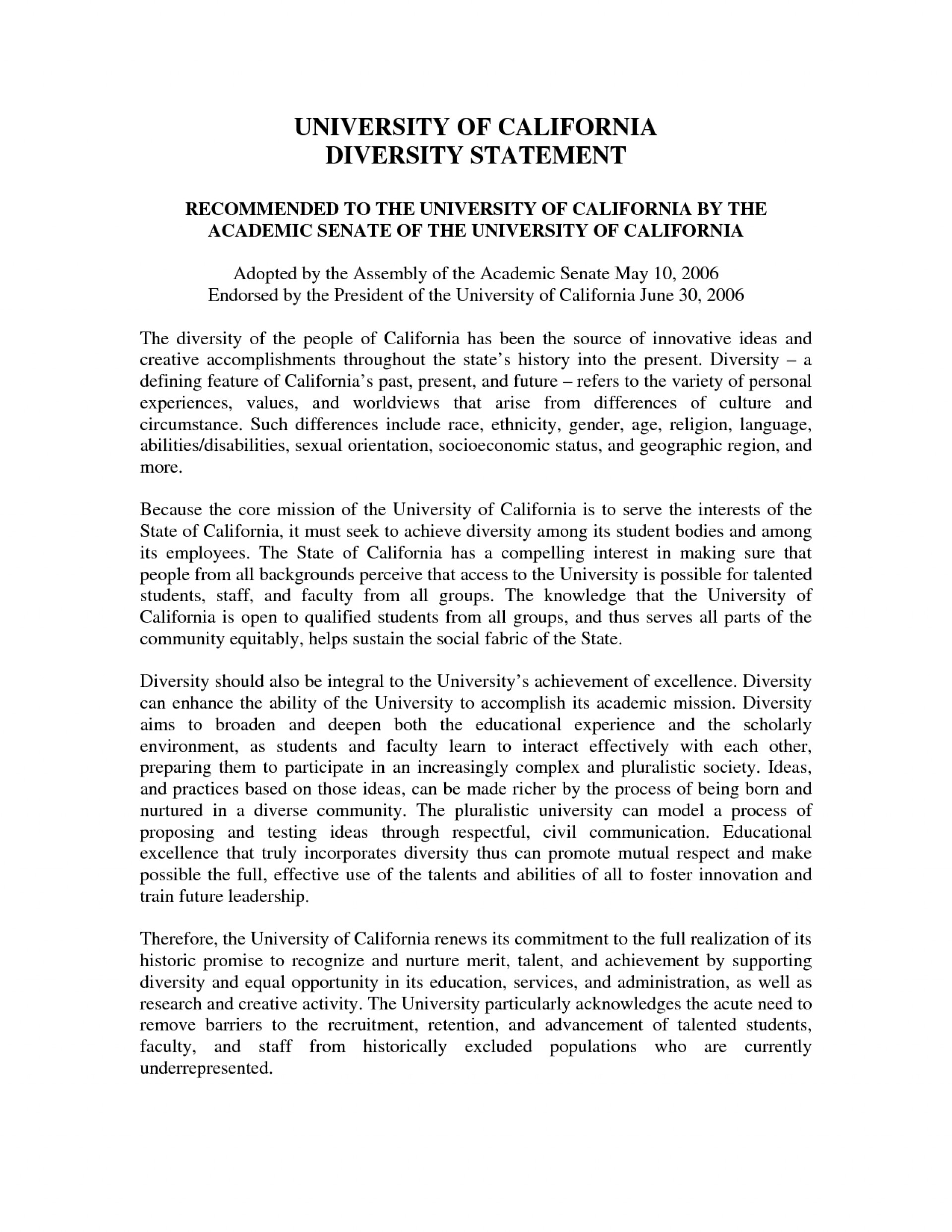 Diversity essay for college