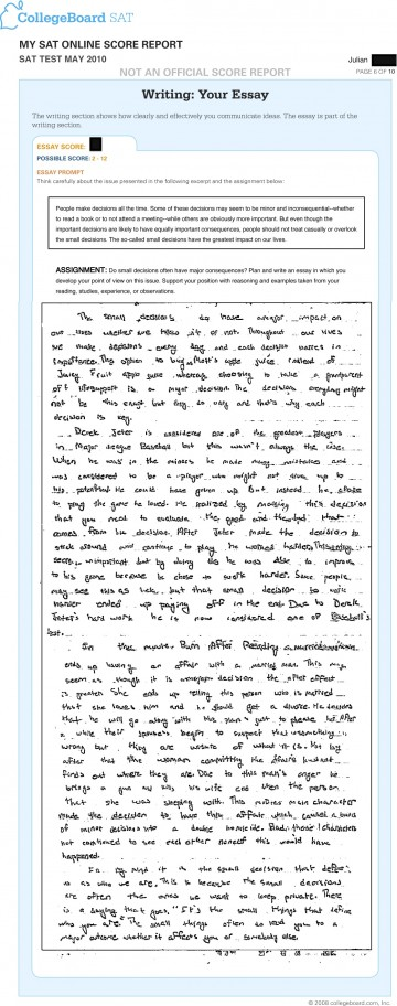 003 Essay Example What Is The Sat Jr May Breathtaking Score Out Of 24 Old 2017 360
