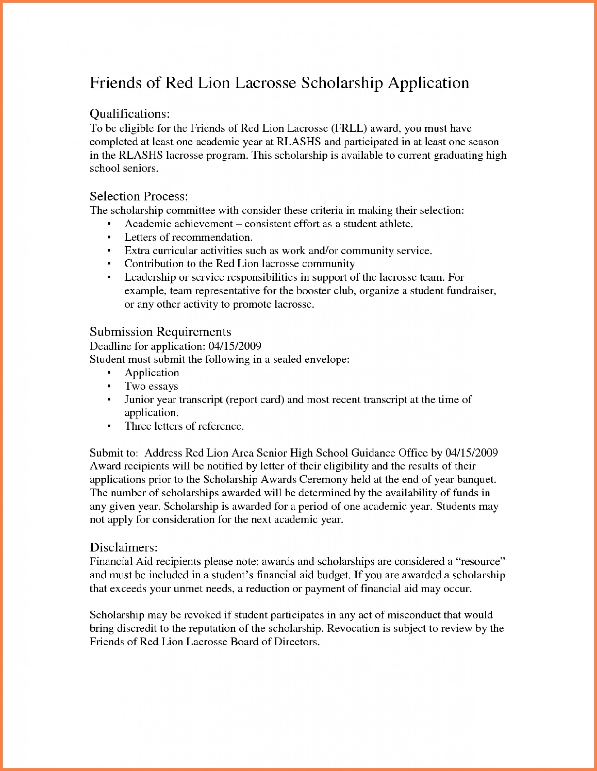 003 Essay Example Why I Deserve This Scholarship College How To Write Do Awesome You Think Sample A 1920