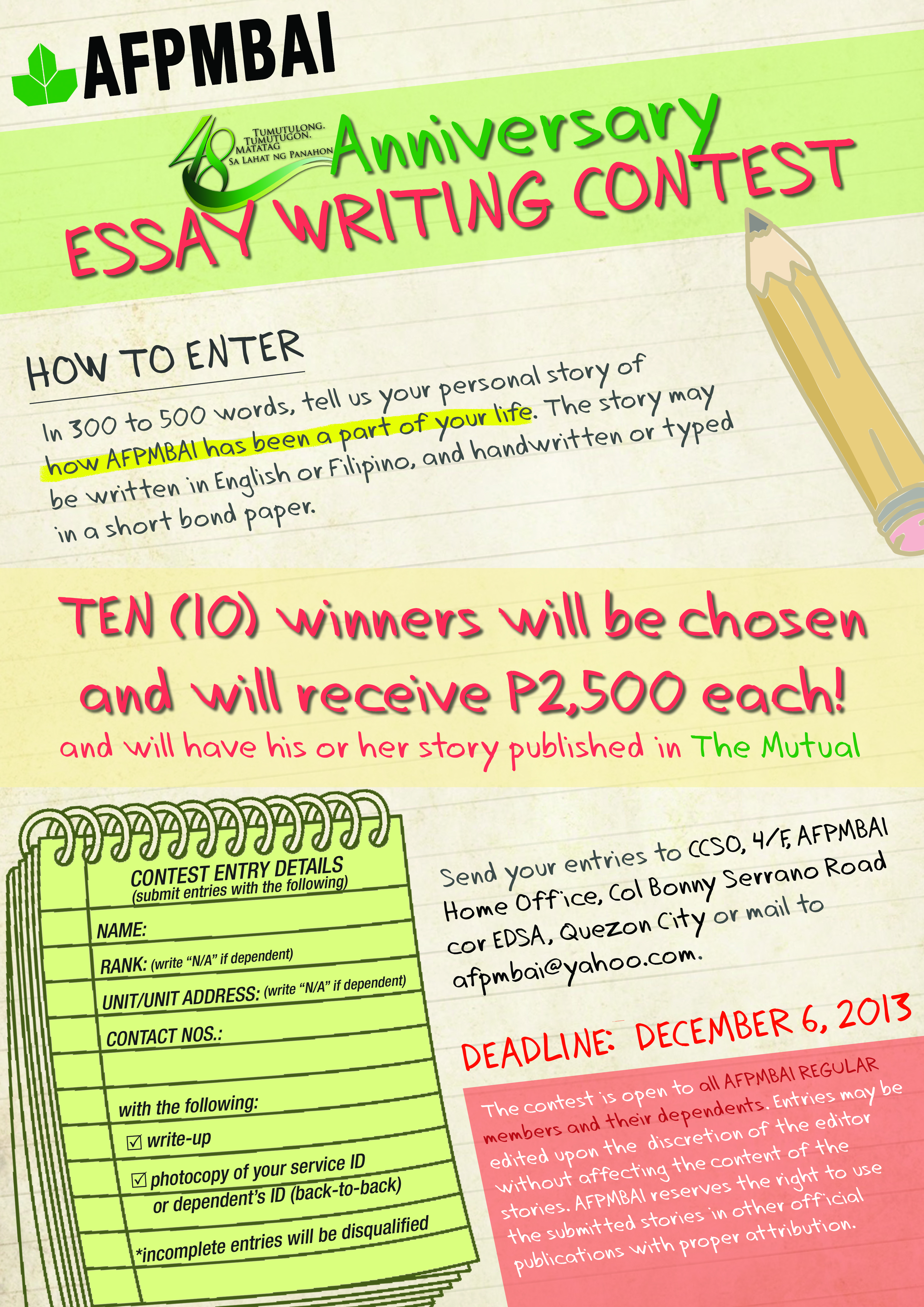 003 Essay Example Writing Contest Competition Essays About For Nutrition Month P Objectives Rubrics Philippines Mechanics Criteria Tips Incredible College Students By Essayhub Sample Full
