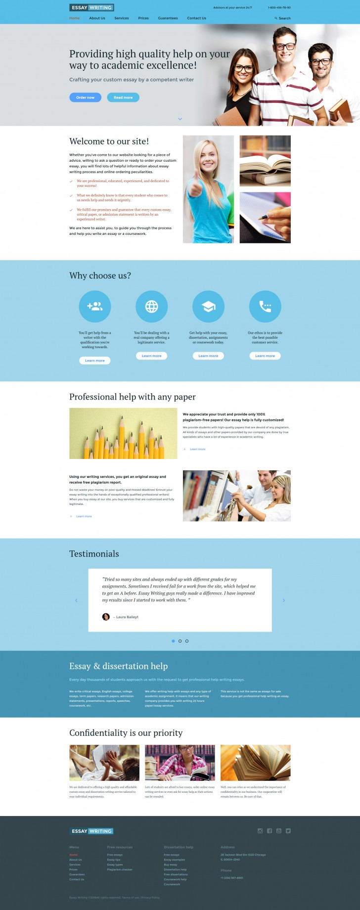 003 Essay Example Writing Website Template 59201 Amazing Websites Reviews Free 728