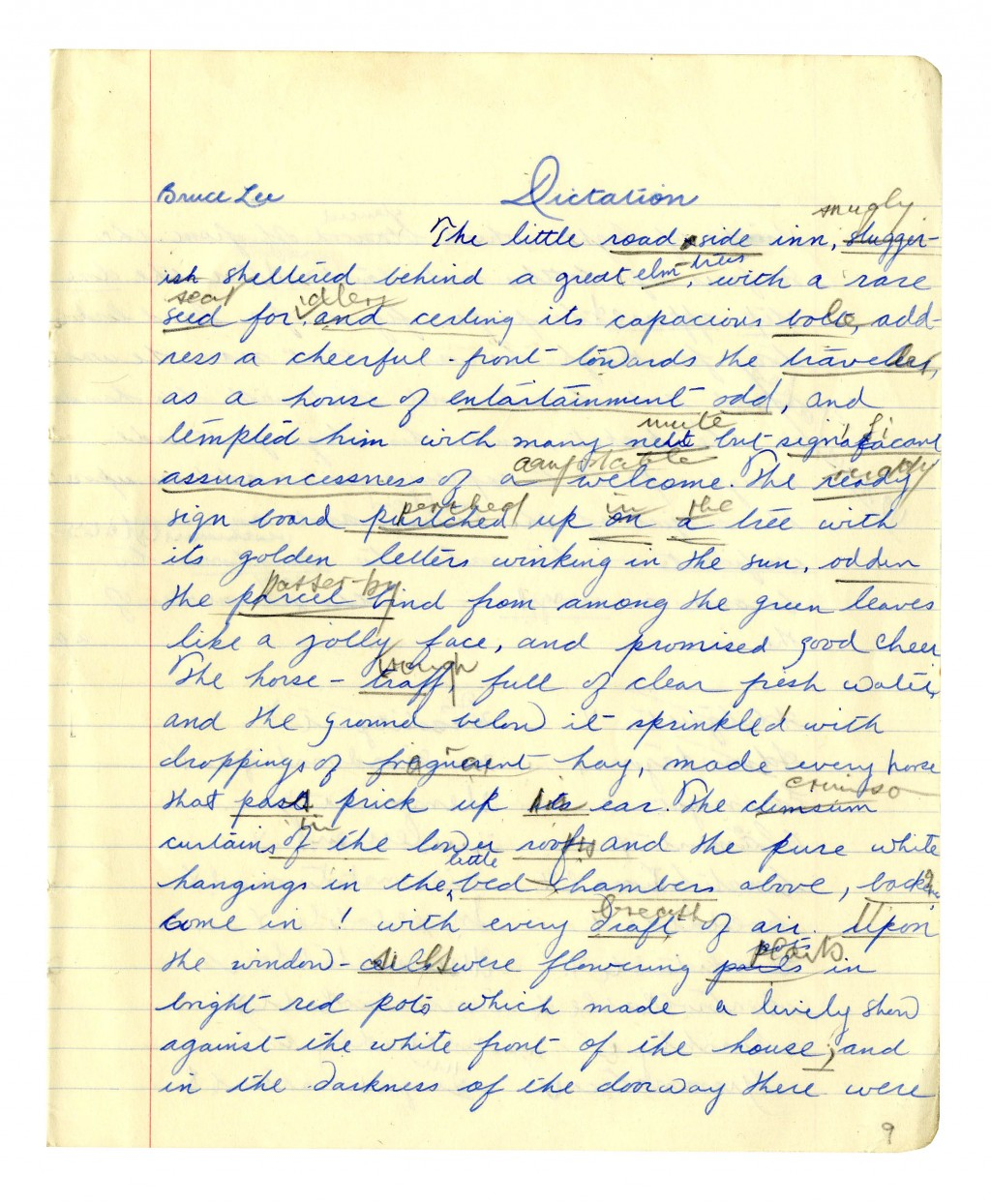 003 Essay On Handwriting Bruce Lee Signed 52850b Lg Fearsome Short Importance Of Good In Hindi Gujarati Large