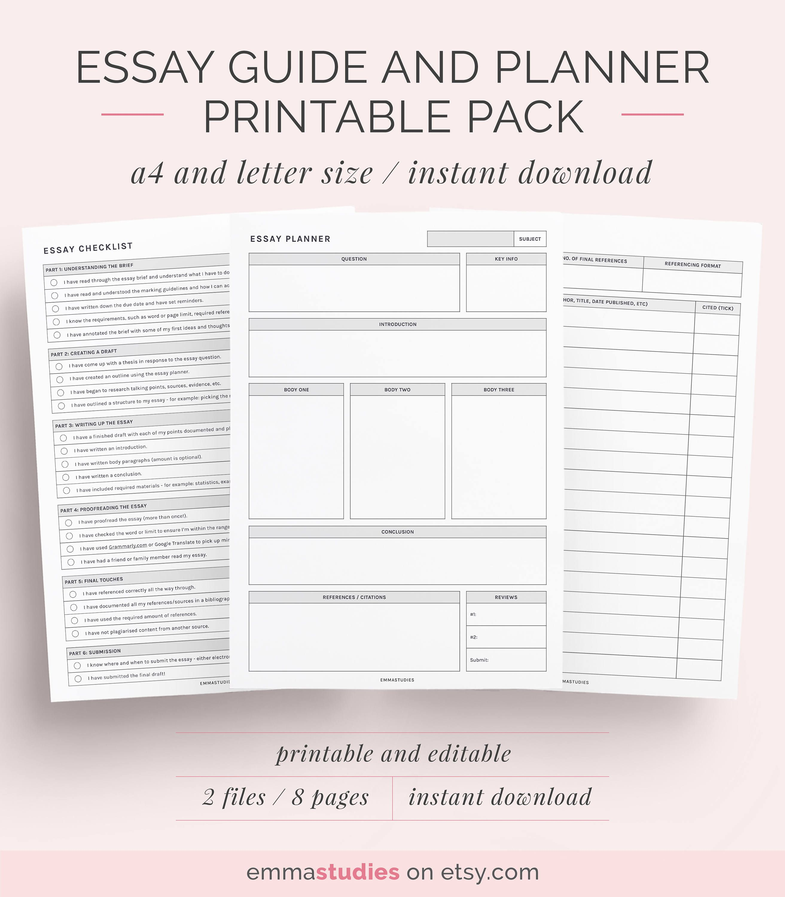 003 Essay Planner Example Amazing Night Before Pdf Sheet Plans Examples Full