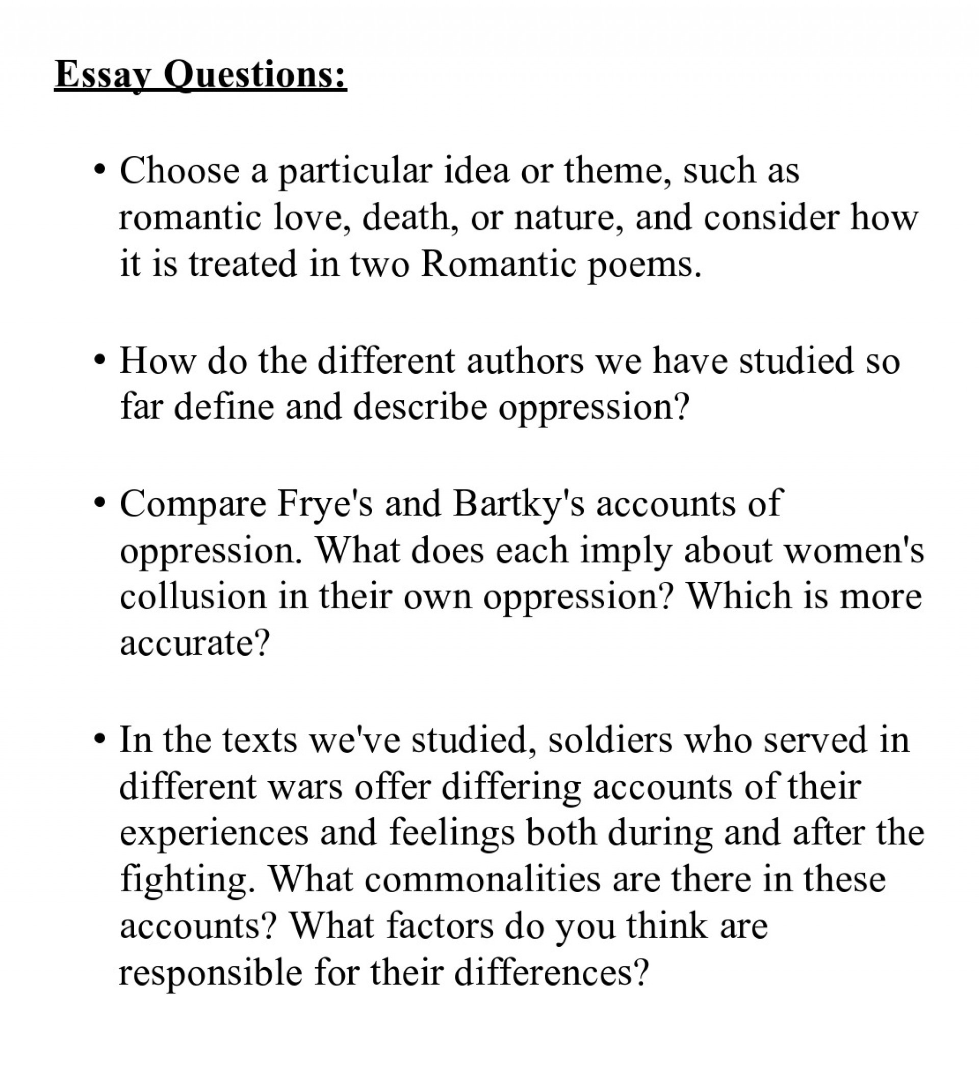 003 Essay Questions College Conclusion Surprising Good For Application Examples 1920