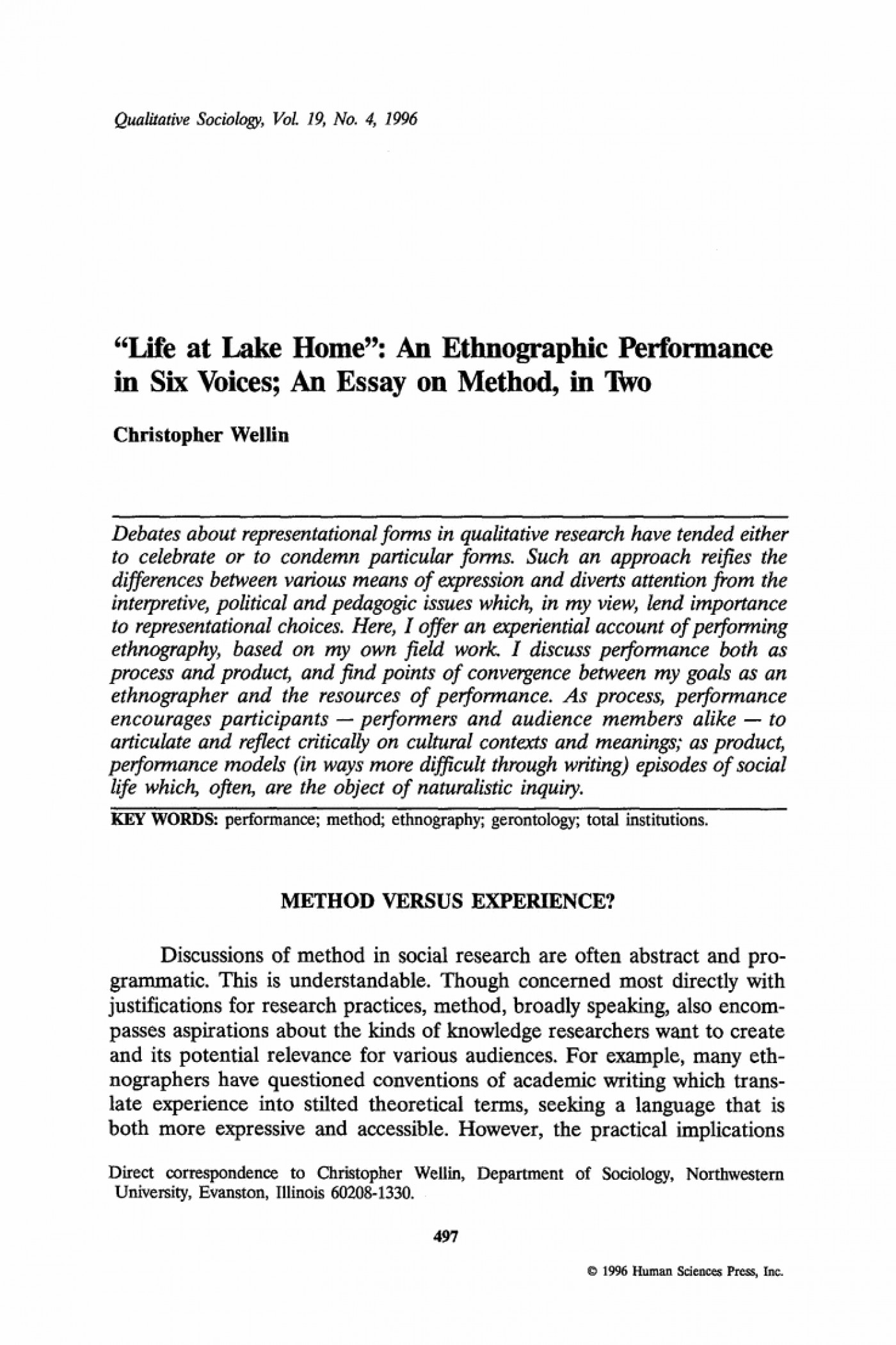 003 Ethnographic Essay Examples Example Profile Interview Of Editable Narrative Paper With Ethnogr Unique Micro Ethnography 1400