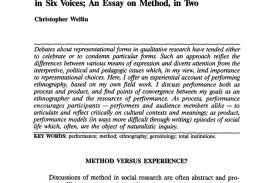 003 Ethnographic Essay Examples Example Profile Interview Of Editable Narrative Paper With Ethnogr Unique Micro Ethnography