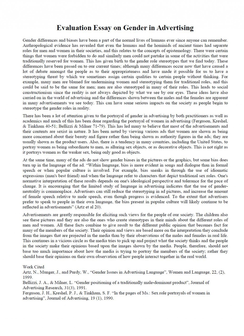 003 Evaluation Essay Sample Academic Essays Online Fearsome Read Buy Large