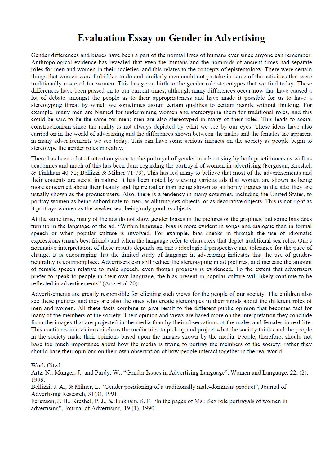 003 Evaluation Essay Sample Academic Essays Online Fearsome Read Buy Full