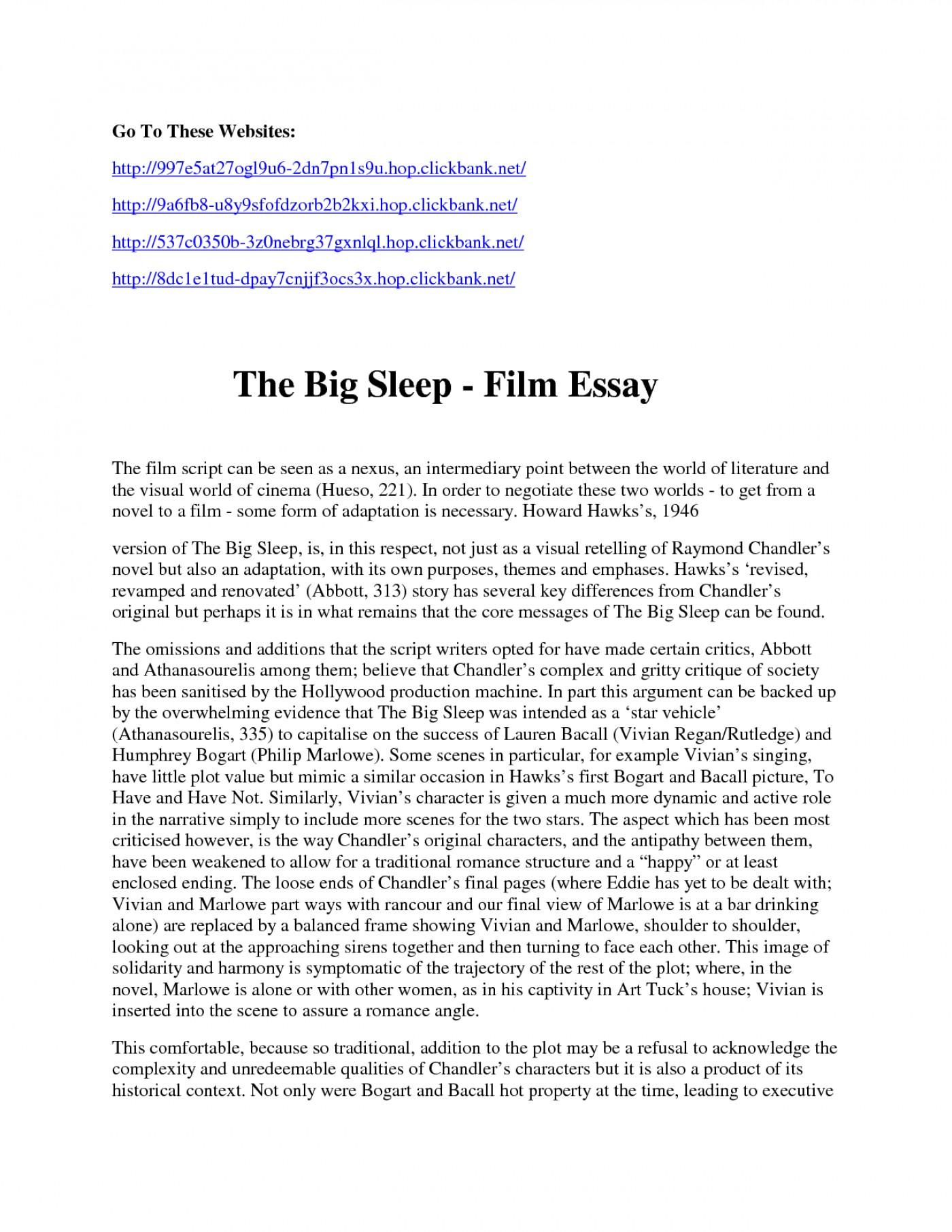 Write essay documentary