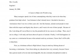003 Expository Essay Samples Sample Page 1 Impressive Theme Examples High School For 7th Grade
