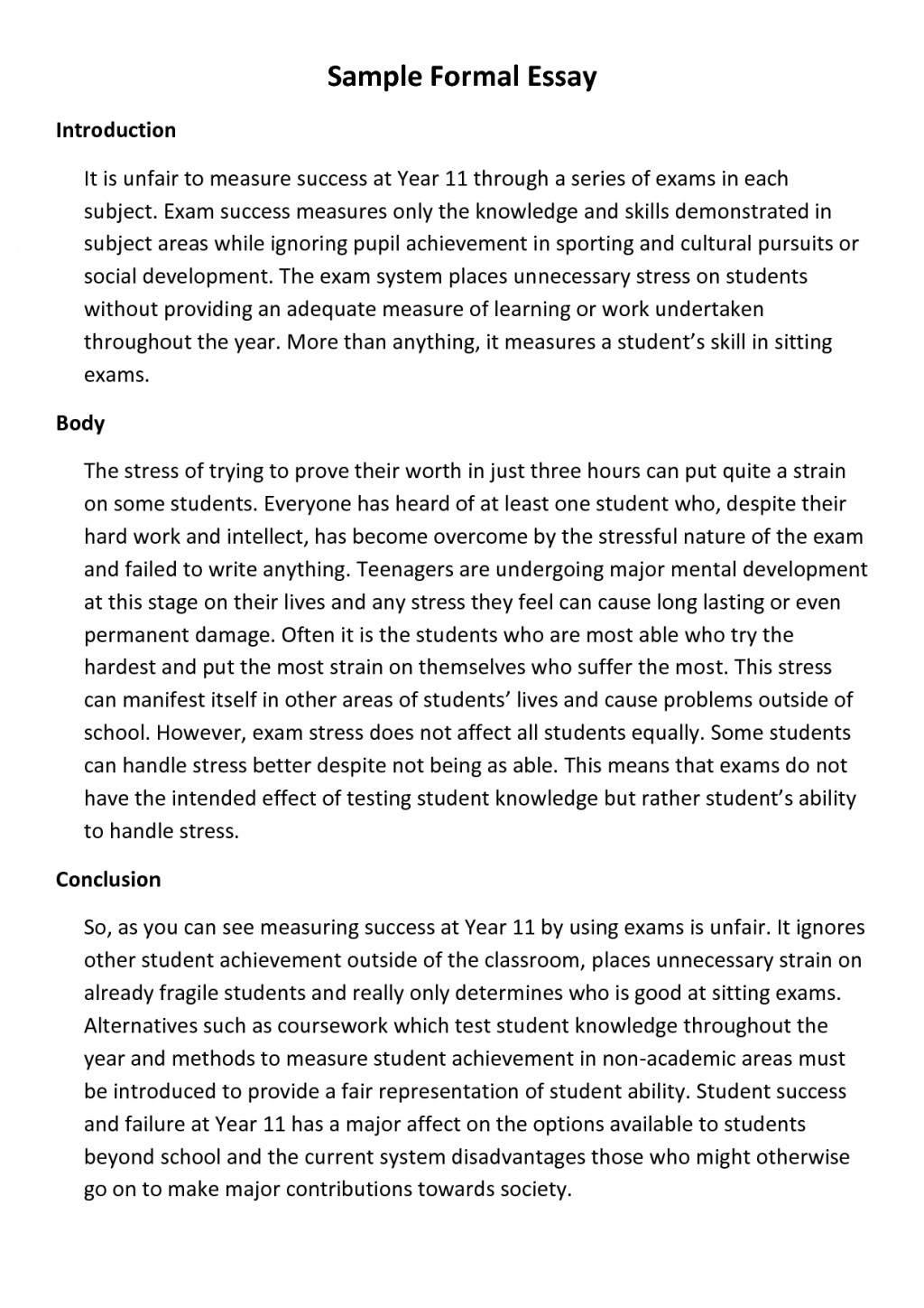 003 Formal Essay Format 326903 Fearsome College Letter Spm Academic Large
