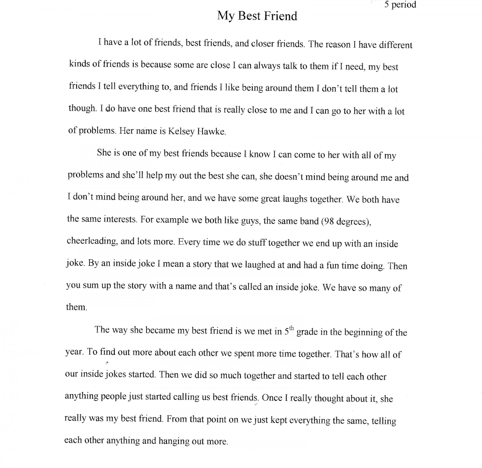 Essay about friend