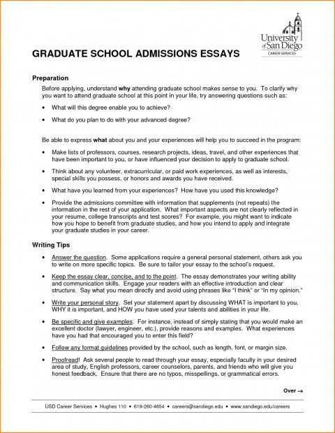 003 High School Admission Essay Sample Graduate Nursing Samples Admissions Examples Psychology Education Counseling Free Business Engineering Example Surprising For Personal 480